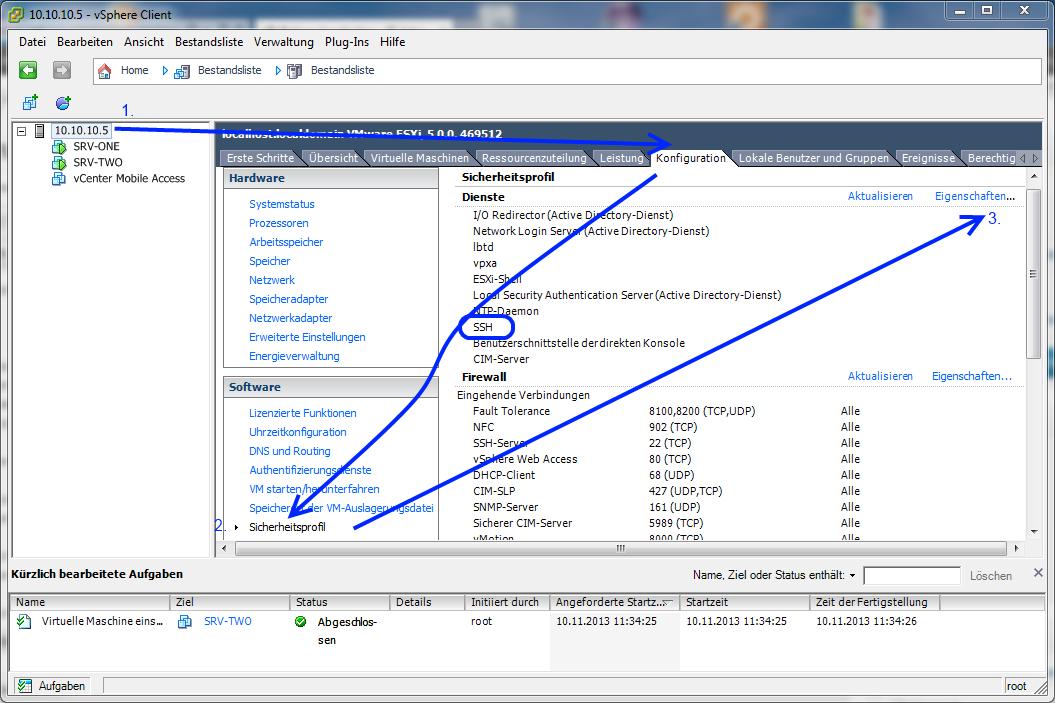 SSH auf einem ESXi Server aktivieren