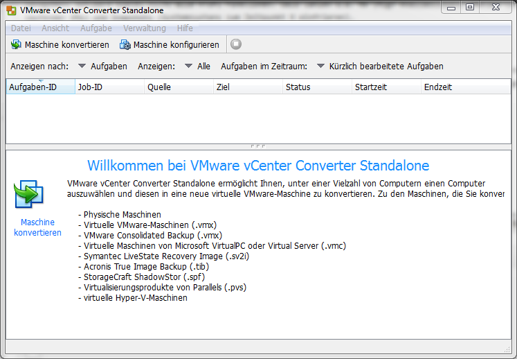 VMware vCenter Converter - Migration von VMs