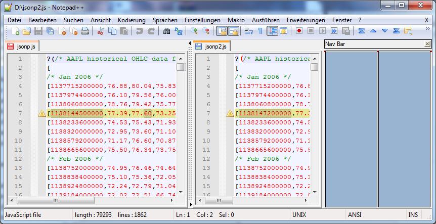 Notepad++ Compare Plugin