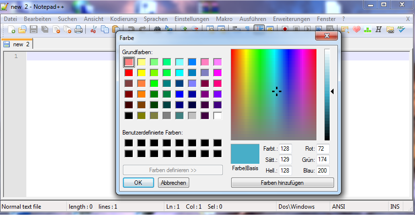 Notepad++ ColorPicker