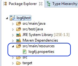 Log4j Properties in Maven Projekt integrieren